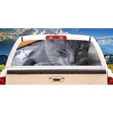 Grey Cat Rear Window Graphic Truck View Thru Vinyl Decal Back Walmart Com Walmart Com
