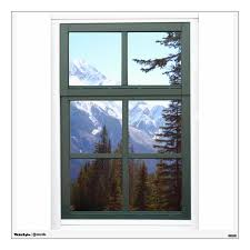 Canada Rocky Mountains Fake Window View Wall Decal Zazzle Com