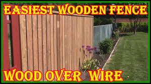 How To Build A Wooden Fence Over A Wire Fence Check Description On How To Make Brackets Youtube
