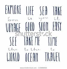 set hand written calligraphic lettering quotes stock vector