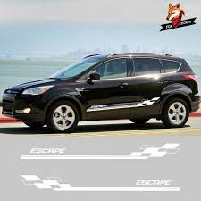 2 Pcs Vehicle Auto Decals Stripe Wraps Body Graphics Vinyl Escape Car Styling Side Stripes Skirt Sticker For Ford Escape Aliexpress