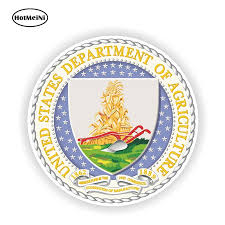 Hotmeini 13cm X 13cm Car Styling Usa Seal Department Of Agriculture Decal Laptop Tablet Pc Door Home Waterproof Car Stickers Car Stickers Aliexpress