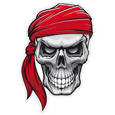 Pirate Skull Stickers Car Decals