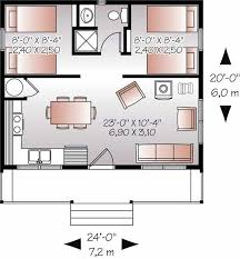 480 sq ft house plan 2 bed 1 bath