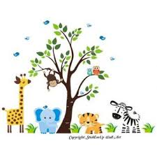 Nursery Wall Decals Nursery Wall Decor Safari Animal Wall Stickers Jungle Wall Decals Repositionable Wall Decals For Kids Room Jungle