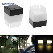 Ready Warm White Square Waterproof Led Solar Light Fence Post Pool Garden Lamp Sho Shopee Philippines