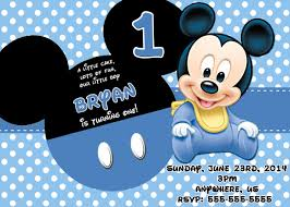 Baby Mickey Mouse Birthday Invitations 8 99 Available At Www