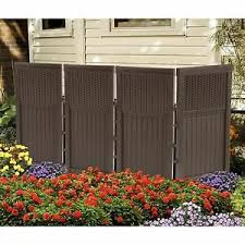 Patio Screen Enclosure Outdoor Backyard Fence Furniture Resin Wicker 4 Panels 766241863544 Ebay