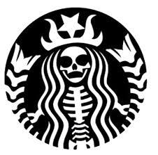 Los Muertos Starbucks Gothic Vinyl Decal Etsy