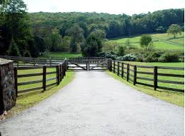 Beautiful Ranch Gate Weathered Wood Matches The Existing Post Fencing Farm Entrance Wooden Gates Driveway Farm Gate