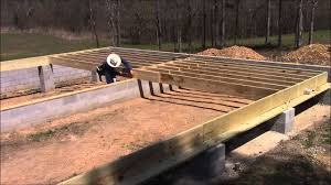 laying out the floor joists