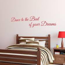 Dance To The Beat Vinyl Wall Decal Quote