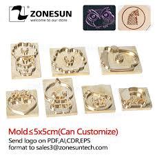 zonesun custom logo hot brass stamp