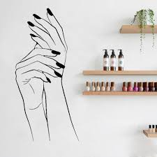 Manicure Wall Decal Vinyl Stickers Girl Hands Nails Interior Home Design Art Murals Spa Beauty Nail Bar Salon Shop Decor Wall Decor Decals Wall Decor Sticker From Joystickers 11 67 Dhgate Com
