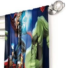 Shop Marvel Avengers Blue Circle 4 Piece Curtain Drapes Set Overstock 21251384