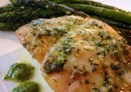 Planked Halibut with Citrus Herb Sauce ...