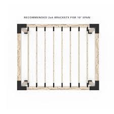 Pergola Kit For 6x6 Wood Posts With Knect 2x6 Top Rafter Brackets Toja Grid Toja Grid Canada