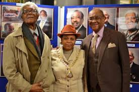Cllr Althea Smith, the Mayor of Soutwark flanked by war veterans (l-r)  former Mayor of Southwark Sam King MBE and Allan Wilmot. | The Latest -  Citizen Journalism for All