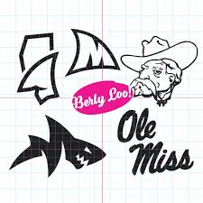 Um University Of Mississippi Decal Ole Miss Landshark Etsy