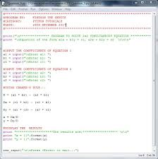 solve simultaneous equation in python
