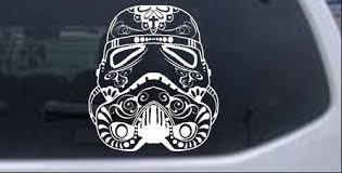 Star Wars Stormtrooper Sugar Skull Car Or Truck Window Laptop Decal Sticker Ebay