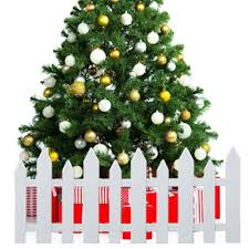 25 Pieces Tinksky Plastic Picket Fence For Christmas Tree Wedding Party Decoration Miniature Home Garden Christmas