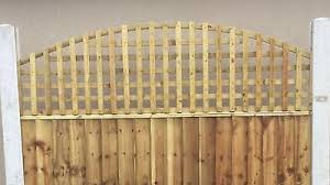 6x2 Heavy Privacy Arched Dome Trellis Fence Topper Lattice Treated Wood Rrp 35 Ebay