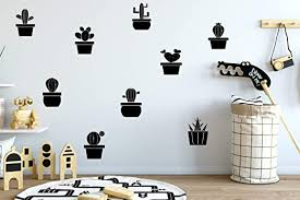 Amazon Com Cactus Wall Decal Boho Style Room Desert Room Decal Nursery Decal Learning Nursery Decor Play Room Decal Kids Room Decor And Stick Wall Decals Home Kitchen
