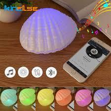 Creative Led Shell Pearl Night Light Music Shell Night Lamp Colorful Bedside Lights Audio Kids Room Decor Lighting Children Gift Led Night Lights Aliexpress
