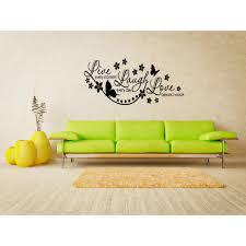 Shop Live Every Moment Flowers And Butterflies Wall Art Sticker Decal Overstock 11521022