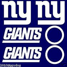 6pc New York Giants Cornhole Decal Sets Large Bean Bag Toss Baggo Stickers Ebay