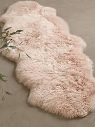 sumptuous sheepskin single rug blush