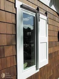 outdoor sliding window shutter