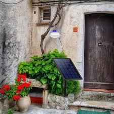 light split solar wall lamp hanging