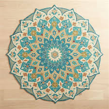 meri mosaic blue 3 round rug pier 1
