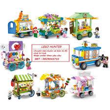 Bộ Lego 8 Xe bán hàng di động trong thành phố Sembo