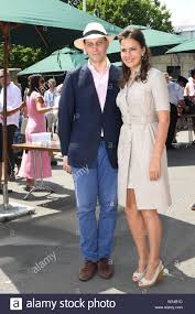 Lord Frederick Windsor and Sophie Winkleman on day eleven of the Wimbledon  Championships at the All England Lawn Tennis and Croquet Club, Wimbledon  Stock Photo - Alamy