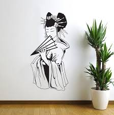 Japanese Geisha Oriental Wall Decal Art Decor Sticker Vinyl Japanese Art Geisha Art Japanese Wall Art Japanese Wall Decal Oriental Decor Wish