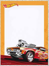Editable Hot Wheels Invitation Card Fiesta De Hot Wheels