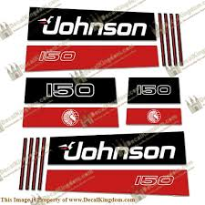 Johnson 150hp V8 Sea Horse Decals Early 1990 S