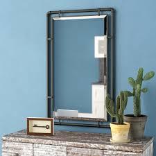 koeller industrial metal wall mirror
