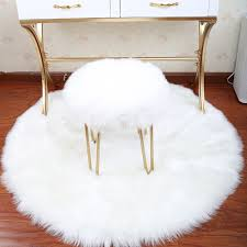 Fluffy Round Rug Carpets For Living Room Decor Faux Fur Carpet Kids Room Long Plush Rugs For Bedroom Shaggy Area Rug Modern Mat Buy At The Price Of 3 39 In Aliexpress Com
