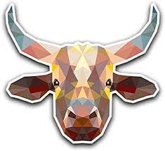 Amazon Com Customi Cow Head Polygon Geometric Sticker Decal Poly Car Truck Macbook Laptop Outdoor Vinyl Automotive