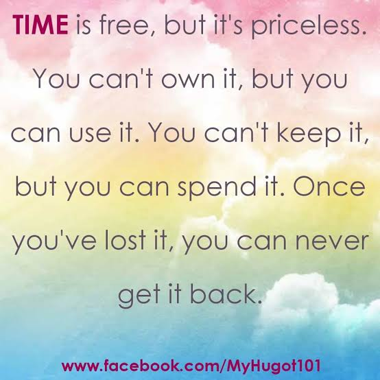 Image result for time is free but it's priceless""