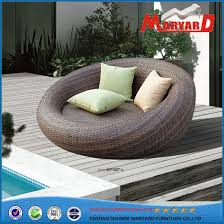 round wicker rattan outdoor daybed