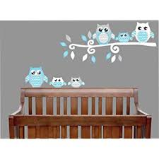 Amazon Com Personalized Name Owl And Branches Prime Series Baby Girl Nursery Wall Decal For Baby Room Decorations Mural Wall Decal Sticker For Home Children S Bedroom 02j Wide 24 X14 Height