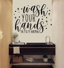 Bathroom Wall Decal Bathroom Decor Bathroom Wall Art Wash Your Etsy