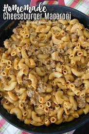 homemade cheeseburger macaroni great