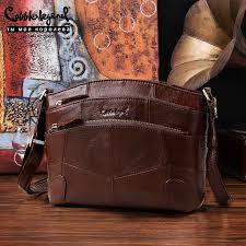 multi pockets vintage genuine leather