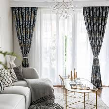 Modern Simple New Single Side Printing Curtains For Living Dining Room Bedroom Curtains Aliexpress